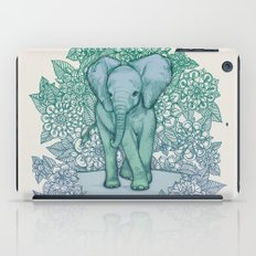 Emerald Elephant in the Lilac Evening iPad Case