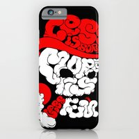 smoking skull iPhone 6 Slim Case