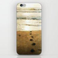 Tracks Into The Sea iPhone & iPod Skin