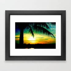 Summer Sunrise - Florida - Palm Trees  Framed Art Print