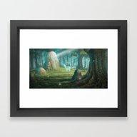The Rock Of Souls Framed Art Print