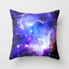 Galaxy Blue  Throw Pillow