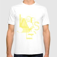 Los Angeles Mens Fitted Tee White SMALL