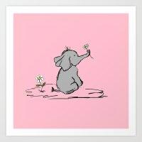 Jessica Elephant Art Print