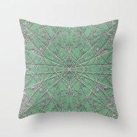 Snowflake Mint Throw Pillow