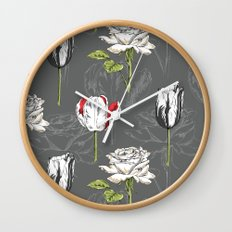 Modern Botanical Wall Clock