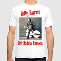 Rockin' Billy Burns Mens Fitted Tee White SMALL