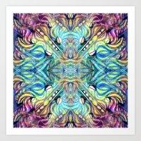 Rainbow Pukkalele Art Print