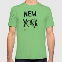 New York Mens Fitted Tee Grass SMALL
