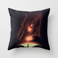 Intergalactic Travel Throw Pillow