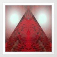 FX#412 - Red Pyramid Bri… Art Print