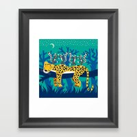 The Leopard And The Lemu… Framed Art Print