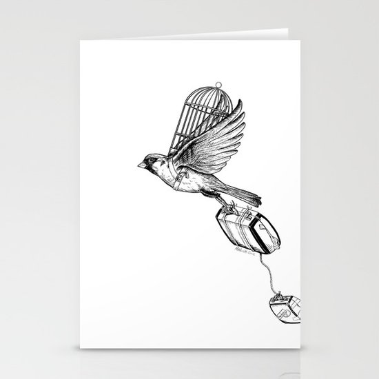 On My Own in Contrast Stationery Card