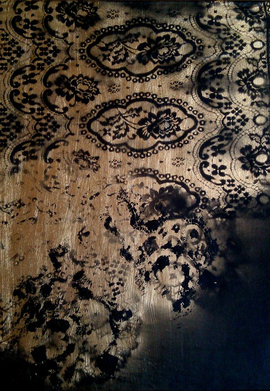 Untitled(gold&black) Art Print