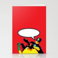 Robin And Bat Man In Act… Stationery Cards