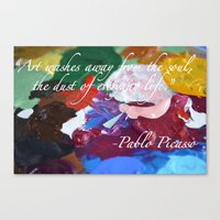 Paint like Picasso. Canvas Print
