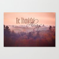 Give Thanks Always - Aut… Canvas Print