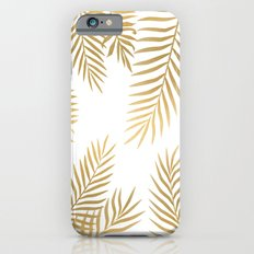 Gold palm leaves iPhone 6s Slim Case