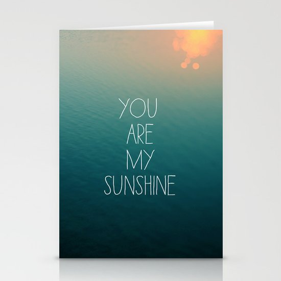 You Are My Sunshine Stationery Card