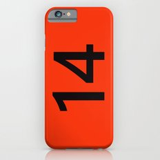 Legendary No. 14 in orange and black Slim Case iPhone 6s