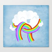 Mr clouds new scarf Canvas Print