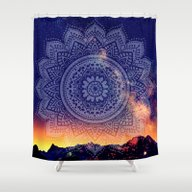 Night Mandala Shower Curtain