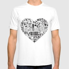 LIKES PATTERNS White SMALL Mens Fitted Tee