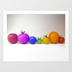Rainbow Tomatoes Art Print
