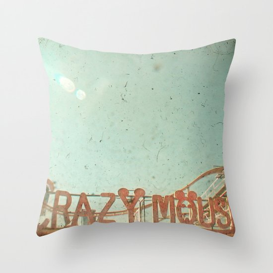Crazy Mouse Throw Pillow