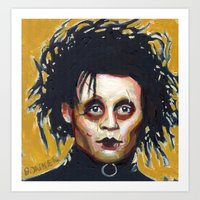Edward Scissorhands - Jo… Art Print