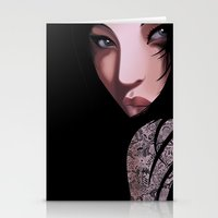 Black Geisha  Stationery Cards