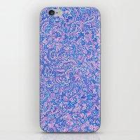 Blue Violet Doodle iPhone & iPod Skin