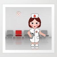 Jobs Serie: The Nurse Art Print
