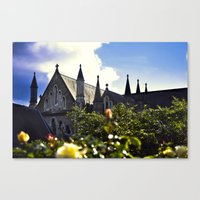Church gardens Canvas Print