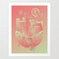 Geometromorphic City Art Print