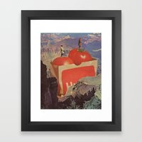 a woman's place Framed Art Print