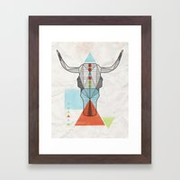 COW GEO Framed Art Print