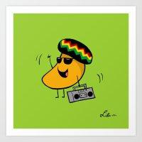 Jamaican Mango Art Print