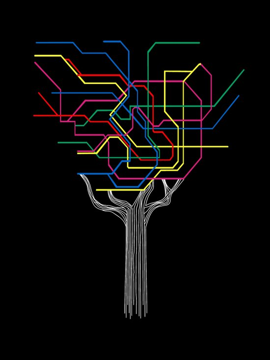 Modern Tree Art Print