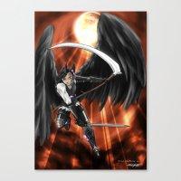 Blood Moon Reaper Canvas Print