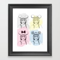 Mouse Ears Framed Art Print