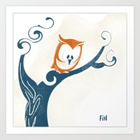 Little Owlet In A Tree Art Print