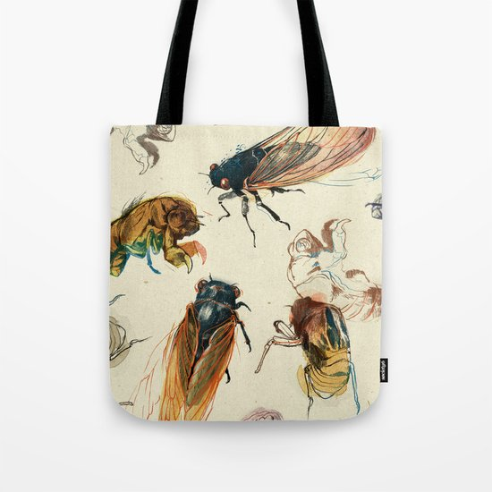 summer cicadas Tote Bag