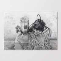 Object study in conte crayon Canvas Print