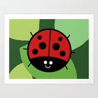 Cutesy Crawlies — Ladybird Art Print