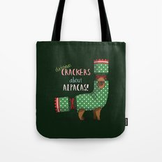 Christmas Crackers About Alpacas! Tote Bag