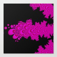 pink and black fractal Canvas Print