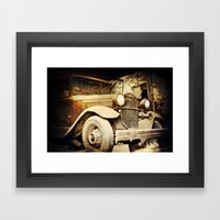 Vintage Metal Framed Art Print