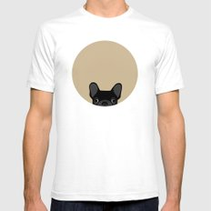 French Bulldog - Black O… Mens Fitted Tee White SMALL