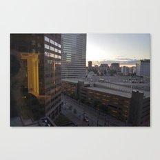Hotel Room Sunrise Canvas Print